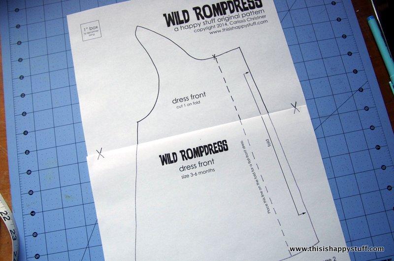 wild rompdress pattern :: www.thisishappystuff.com
